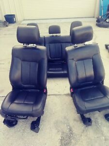 2012 Ford F150 Black Leather Front And Rear Seats