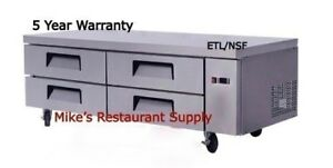 New 72 4 Drawer Refrigerated Chef Base Equipment Stand Refrigerator Nsf 8301