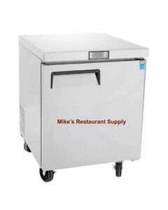 New 1 Door Under Counter Freezer Stainless 8267 Commercial Restaurant Etl Nsf
