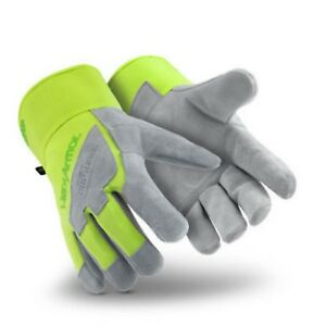 Hexarmor Steel Leather Gloves Ix 5039 size X large New