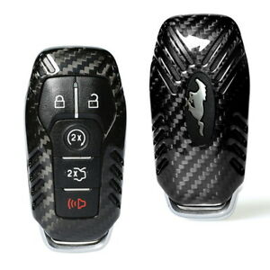 Real Carbon Fiber Key Fob Shell Cover For Ford Lincoln Intelligent Access Key