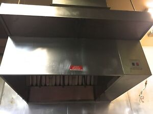Commercial Kitchen Exhaust Hood 4 Ft With Ansul System Makeup Air Blower