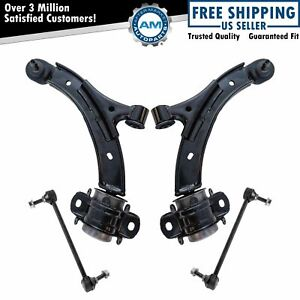 4 Piece Suspension Kit Control Arms W Ball Joints Sway Bar Links For Mustang