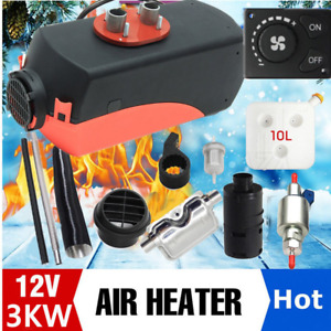 12v 3kw Air Heater Single hole Switch With Muffler Universal For Tank Vent Us Rm