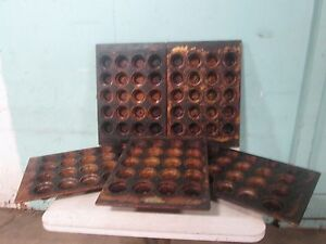 Lot Of 5 amco Bakeware H d Commercial Crown Muffin cup Cake Baking Pans