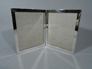 Web Frame Picture Photo Double Diptych Modern American Sterling Silver