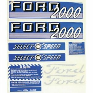 Decal Kit 2000 Select o speed Ford 2000 66886