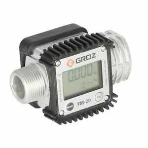 Groz Digital Fuel Meter Low Viscosity Fluids
