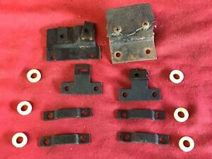 1967 Mustang Shelby Deluxe Bucket Seat Back Lower Mounting Brackets