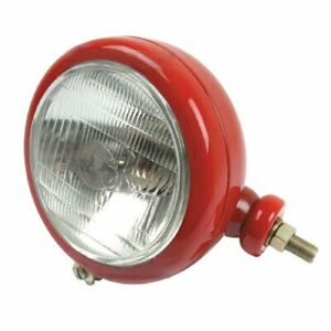 Headlight Assembly 12v Rh Round Red David Brown 1212 885 995 990 880 996 1210