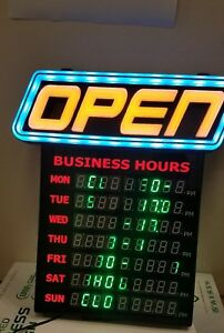 New Green Light Innovation Led Spectrum Horizontal Business Hours Open Sign