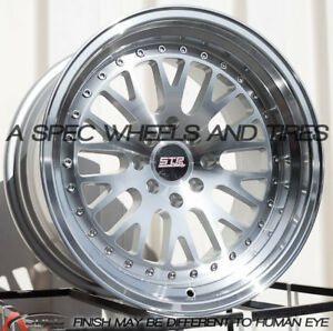 1pc 16x9 20 Str 520 4x100 4x114 3 Silver Machined Face 1 Wheel Replacement