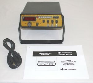 Bk Precision 3011b 2 Mhz Function Signal Generator Tested Works Manual