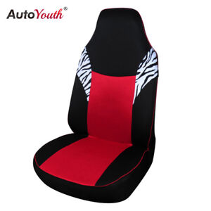 1pcs Sandwich Cloth Classic Car Front Seat Cover Zebra Red Car Seat Protector