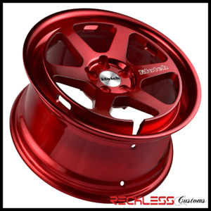 18 Klutch Slc2 Wheels Red Galaxy Concave Rims Fits Dodge Stratus Sedan
