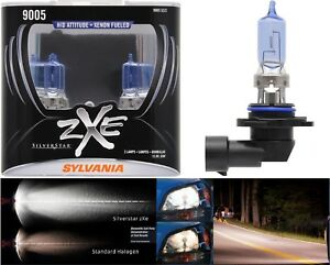 Sylvania Silverstar Zxe 9005 Hb3 65w Two Bulbs Head Light High Beam Replace Fit