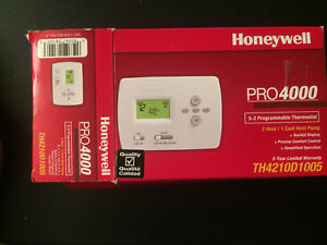 Honeywell Pro 4000 Programmable Thermostat Th4210d1005 Heat cool 5 2 Heat Pump