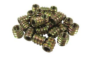 Taytools 3 8 16 Threaded Inserts 25 Pack Allow Steel Zinc Plated Tis5