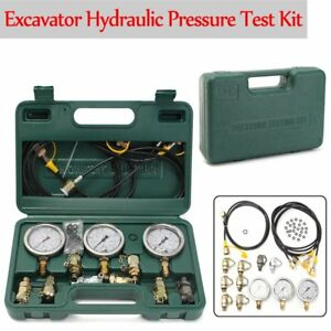 Hydraulic Pressure Gauge Tester Tool Coupling Test Kit For Excavator Caterpillar