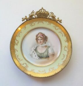 Queen Louise Of Prussia Porcelain Portrait Cabinet Plate Artist Signed 1