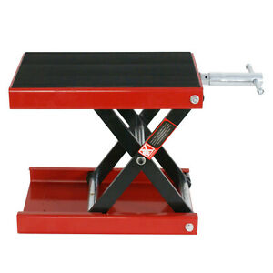 Wide Deck Motorcycle Scissor Jack Lift Stand Widow Cruiser Touring Bike 1100 Lbs