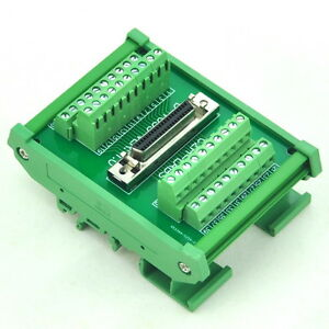 Din Rail Mount 40 pin Half pitch 0 05 D sub Female Interface Module dsub scsi 1