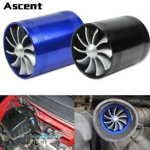 Universal Car Accessories Supercharger Power Air Intake Dual Fan Turbine Turbo