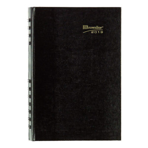 Brownline 2019 Coilpro Daily Appointment Book monthly Planner Black 8 X 5 Inch
