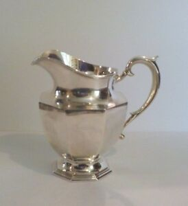 Newburyport Silver Co Sterling Silver Water Pitcher C 1905 1914