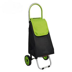 Shopping Cart Portable Back Bag Foldable Trolley Fixed Rod Luggage Oxford Cloth