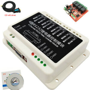 Usb 9 30v Dc 2 4 8 16 Channel Rs232 Relay Serial Controller Board Db9 Switch Pc