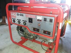 Multiquip 6000w Ga 6ha new And Never Used Generator red