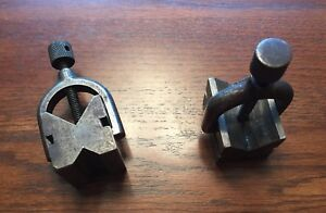 Machinist V block Set With Clamps Lathe Mill