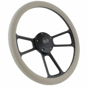1967 Camaro 14 Billet Grey Steering Wheel With Chevy Ss Horn Adapter