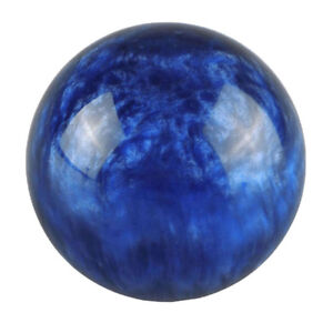 Universal Car Gear Shift Knob Shifter Lever Deep Blue Ball Shape M12 1 25mm