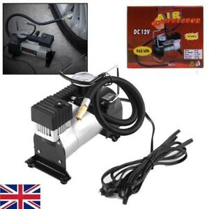 12v Car Electric Mini Compact Compressor Pump Tyre Air Inflator 150psi cable