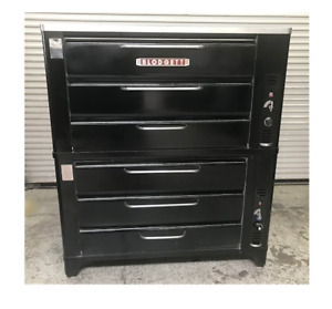 58 Double Stack Deck Natural Gas Pizza Oven W Stone Decks Blodgett 981 8686