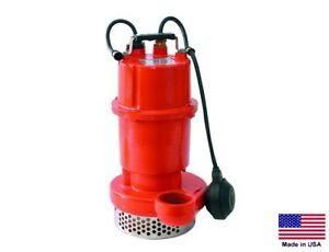 Sump Utility Pump Submersible Commercial 10 Psi 1 2 Hp 115v 2820 Gph