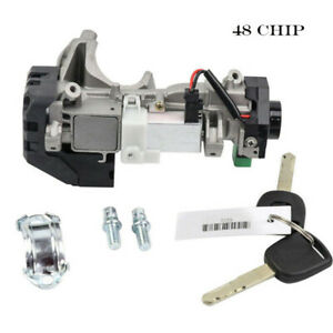 48 Chip Ignition Switch Cylinder Lock Auto Trans For Honda Civic 35100 Sda A71