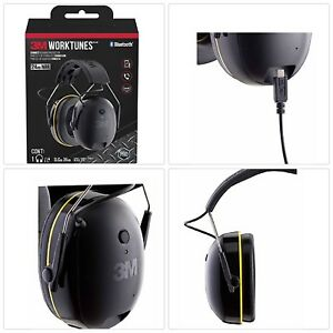 3m Worktunes Connect Hearing Protector With Bluetooth Technology Headphones New
