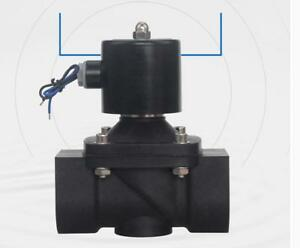 2 Way 2w Series Air Gas Water Solenoid Valve Large Plastic Valve 2 12v
