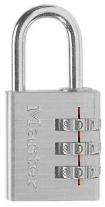 Master Lock Combination Luggage Padlock silver 630d 6 pack