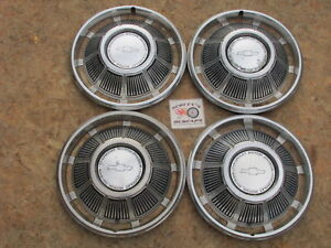 1969 Chevy Chevelle Malibu 14 Wheel Covers Hubcaps Set Of 4