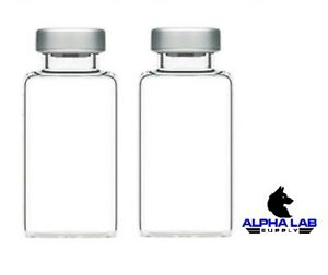 20ml Sterile Clear Glass Vials 2 Pack Free Shipping