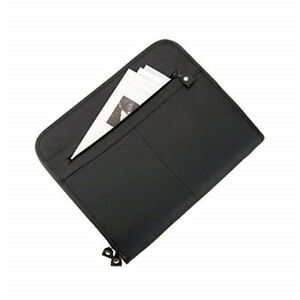 Alassio Conference Folder Zipped 3 Compartments A4 Leather look Black ref