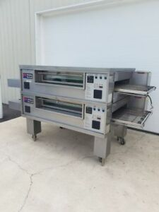 Middleby Marshall Ps570s Double Deck Conveyor Pizza Oven excellent Condition