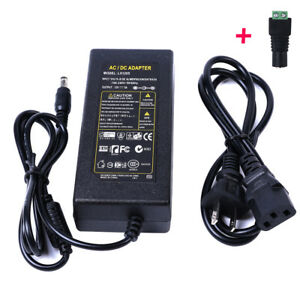 200 X 12v Dc 5a 60w Us Power Supply Adapter Transformer For Led Strip Cctv Pc