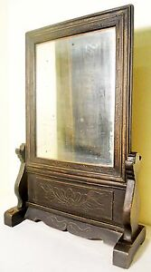 Antique Chinese Carved Mirror Stand 2540 Circa 1849 1899