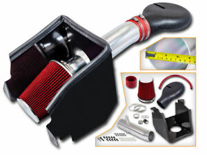 4 Cold Air Intake System Kit For 94 01 Dodge Ram 1500 5 2l 5 9l Red Filter