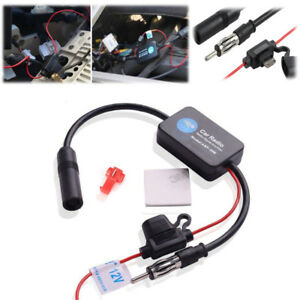 25db 12v Auto Car Antenna Radio Fm Signal Amplifier Booster Strengthen Ant 208